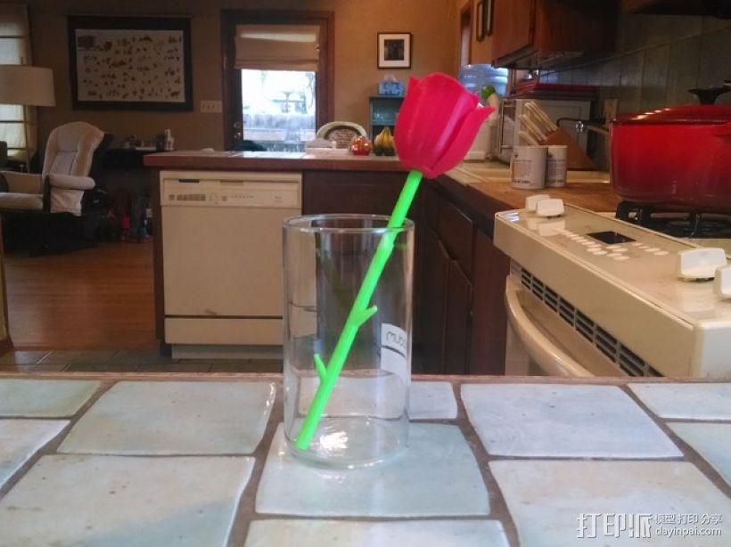 带刺玫瑰 3D模型  图3