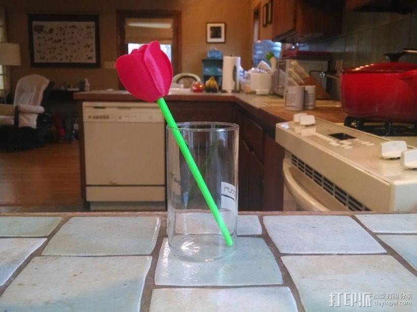 带刺玫瑰 3D模型  图4