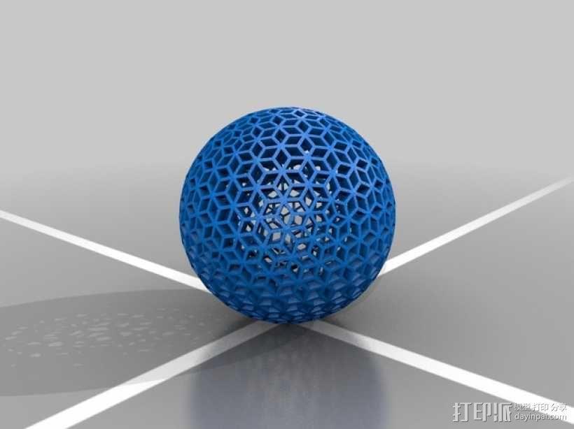 菱形球体 3D模型  图1