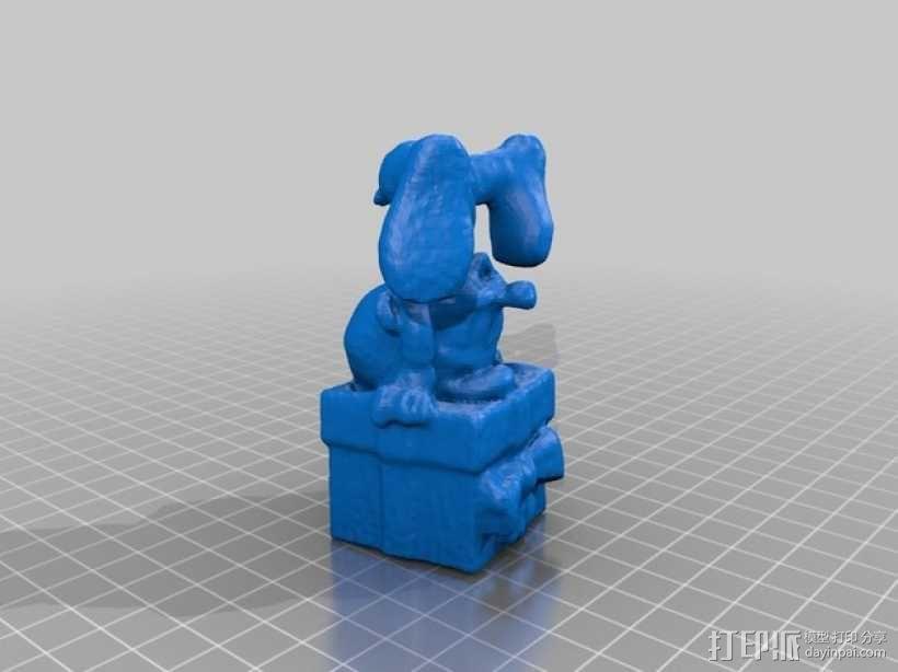 倒立着的蓝精灵 3D模型  图2