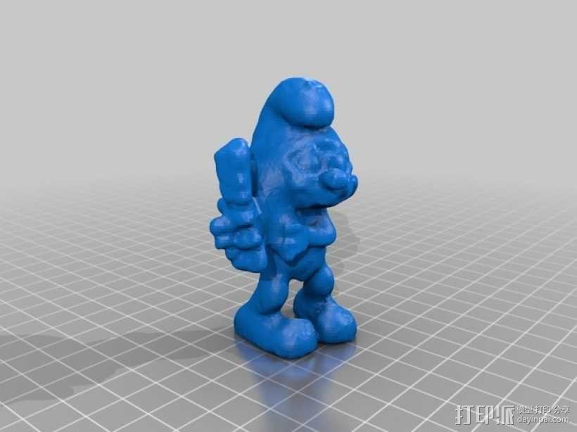 brainieee 蓝精灵 3D模型  图2