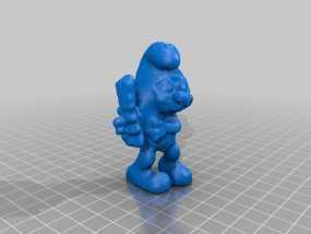 brainieee 蓝精灵 3D模型