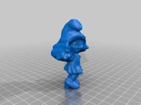 蓝妹妹  3D模型