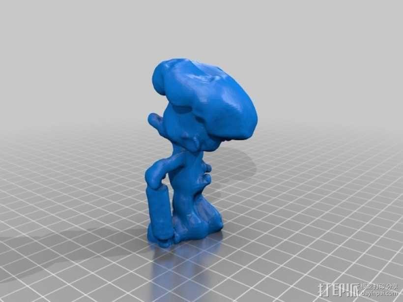 蓝精灵厨师 婪婪 3D模型  图2