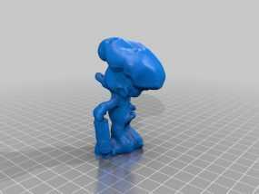 蓝精灵厨师 婪婪 3D模型