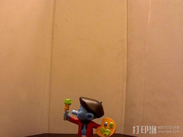 蓝精灵画家  画画 3D模型  图1