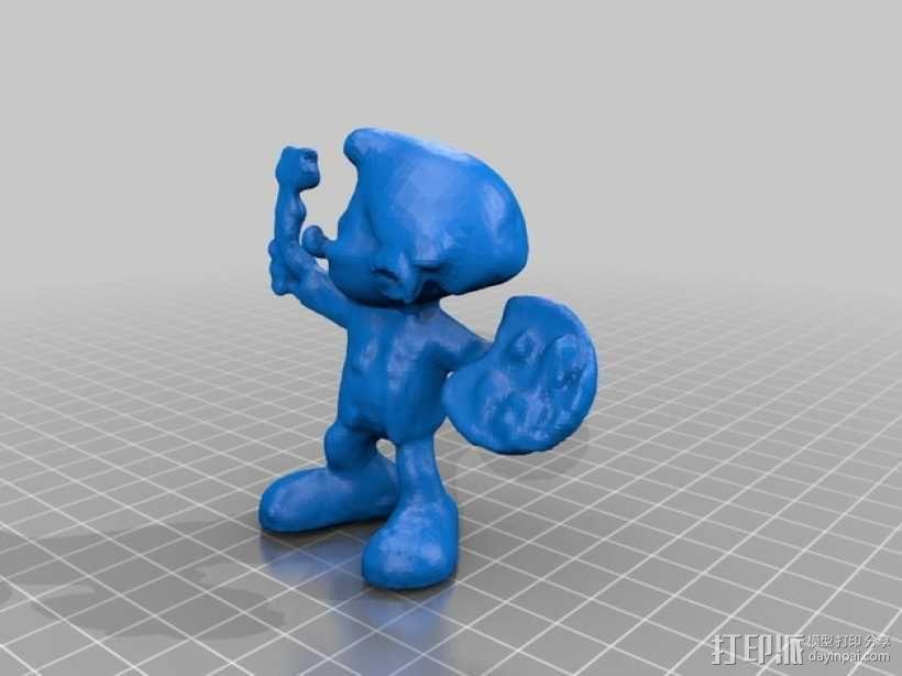 蓝精灵画家  画画 3D模型  图2