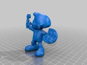 蓝精灵画家  画画 3D模型
