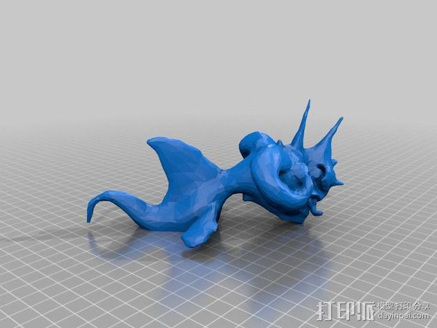 嵌合体 鱼 3D模型  图2