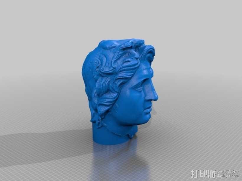 亚历山大 头像 3D模型  图2