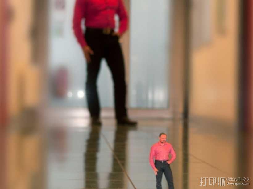 全身扫描制作的人偶 3D模型  图4