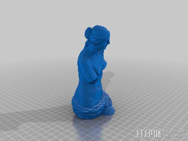 断臂维纳斯 雕塑 3D模型  图3