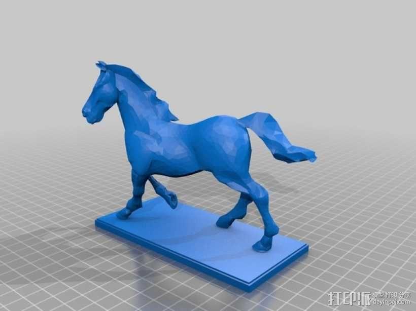 马 3D模型  图2