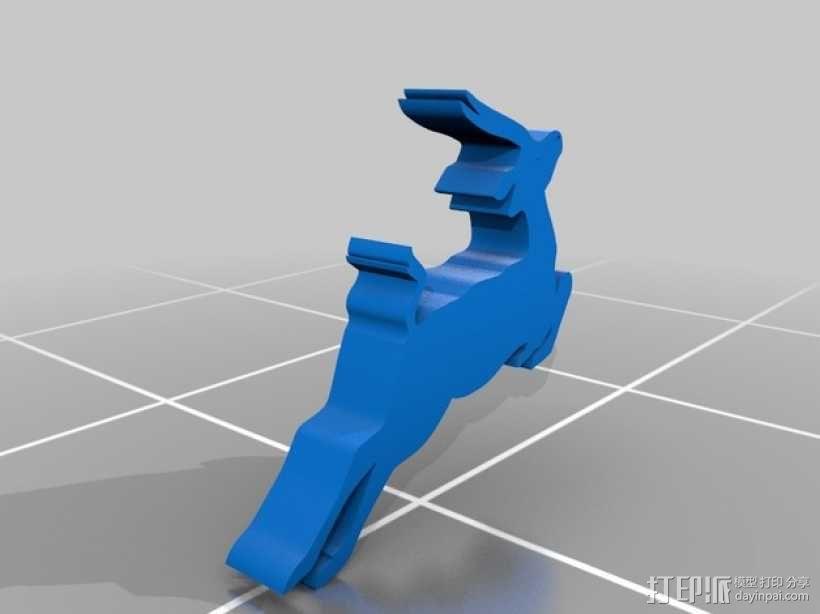 鹿 装饰品 3D模型  图1