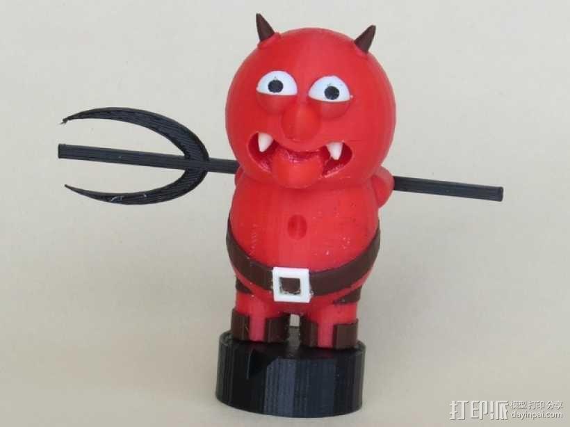 恶魔 玩偶 3D模型  图1