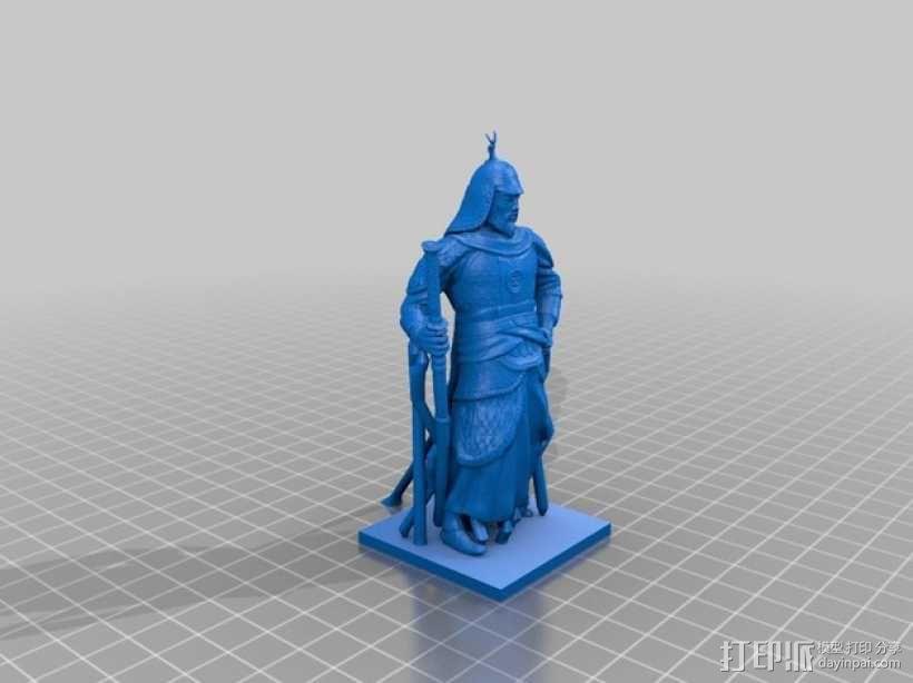 李舜臣  塑像 3D模型  图2