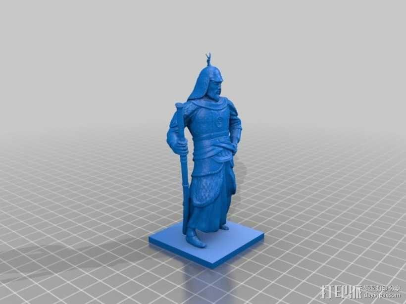李舜臣  塑像 3D模型  图3