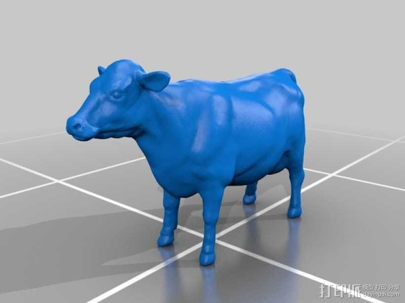 奶牛 雕塑 3D模型  图1