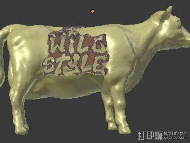 奶牛 雕塑 3D模型  图4