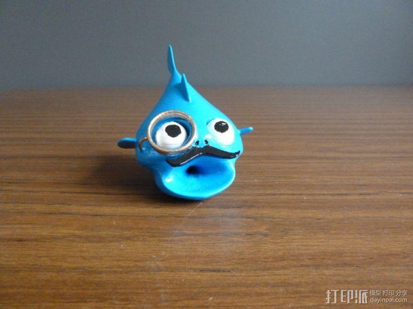鱼先生 玩偶 3D模型  图1