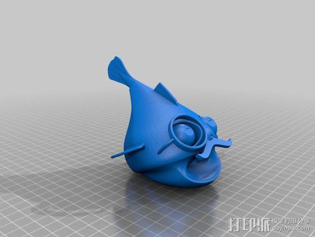 鱼先生 玩偶 3D模型  图2