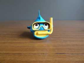 潜水的小鱼 玩偶 3D模型
