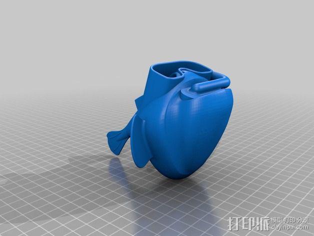 潜水的小鱼 玩偶 3D模型  图6