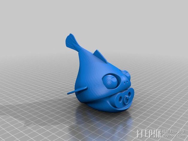 鱼宝宝 玩偶 3D模型  图1