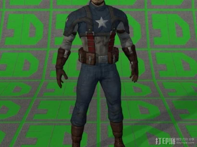 美国队长 3D模型  图1
