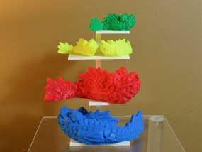 个性化小鱼 装饰品 3D模型
