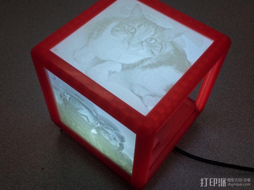 定制化 透光浮雕 立方体 3D模型  图2