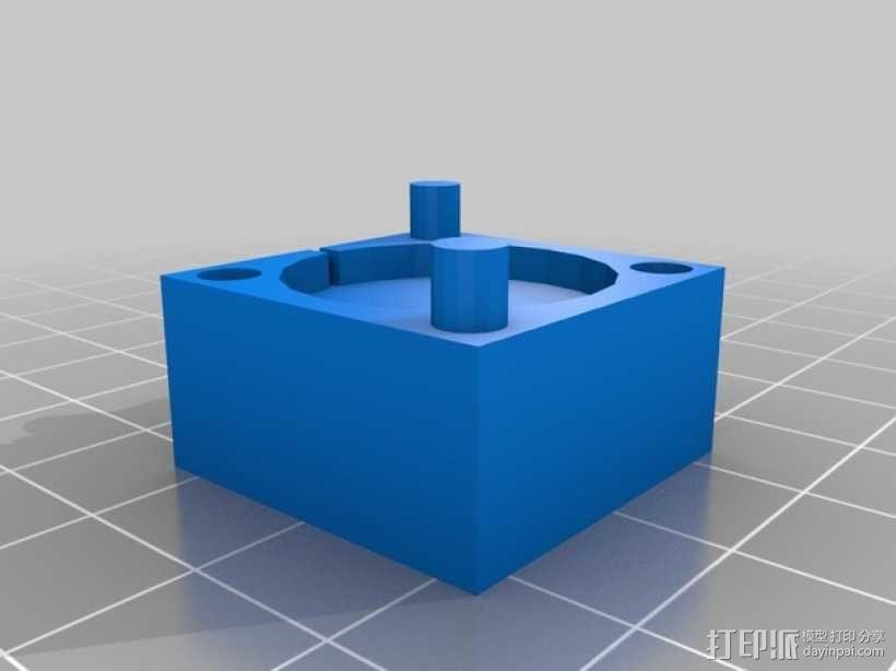 蘑菇云灯 底座 3D模型  图5