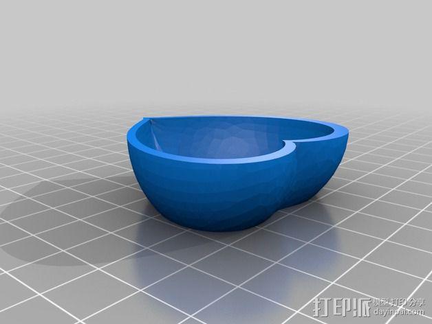 心形小盒 3D模型  图2
