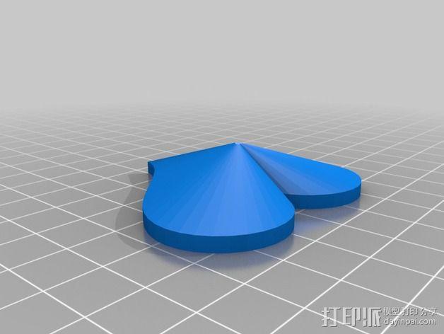 心形小盒 情人节礼物盒 3D模型  图2