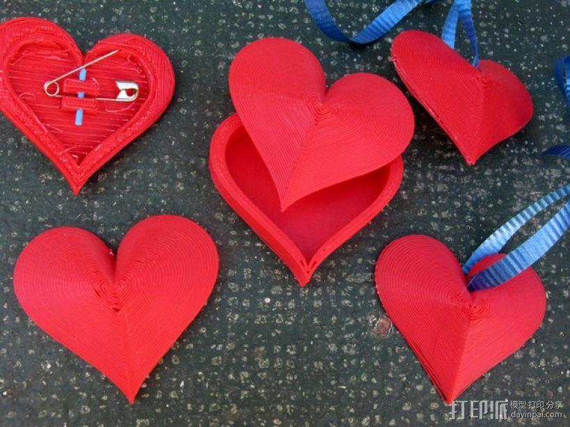 心形小盒 情人节礼物盒 3D模型  图1