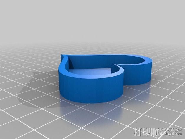 心形小盒 情人节礼物盒 3D模型  图3