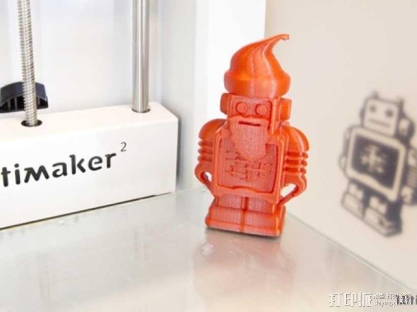 圣诞老人 机器人 3D模型  图1