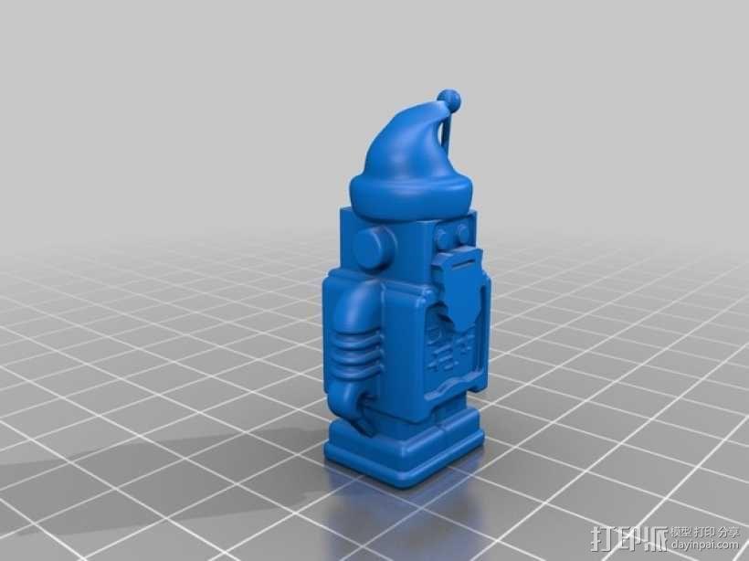 圣诞老人 机器人 3D模型  图2