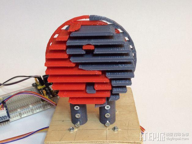 阴阳八卦图 标志 3D模型  图1
