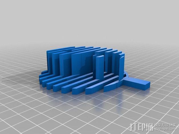 阴阳八卦图 标志 3D模型  图2