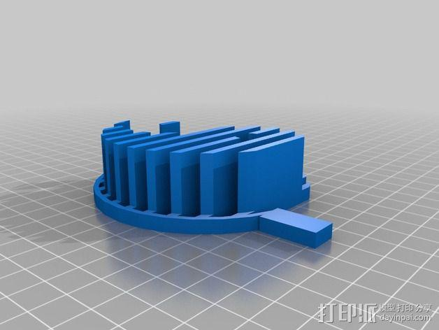阴阳八卦图 标志 3D模型  图3