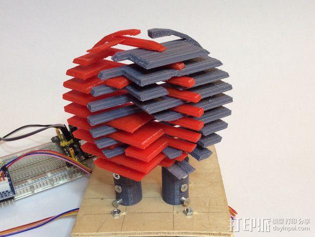 阴阳八卦图 标志 3D模型  图5