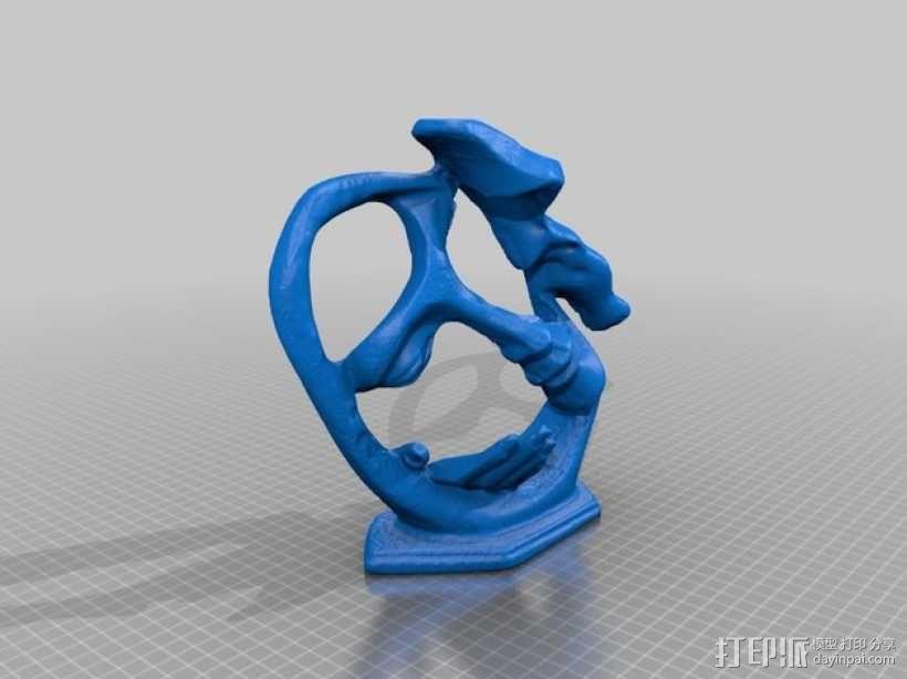 墨西哥人 雕塑 3D模型  图7