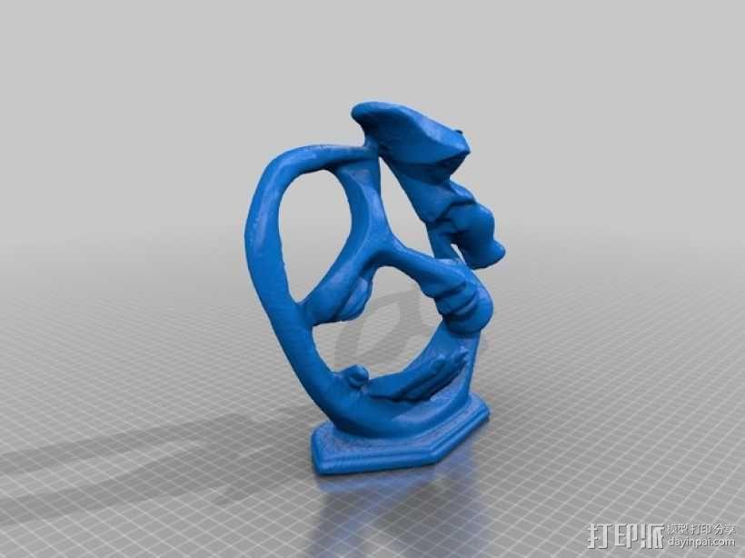 墨西哥人 雕塑 3D模型  图8