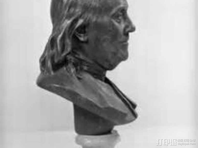 本杰明富兰克林雕塑 3D模型  图1