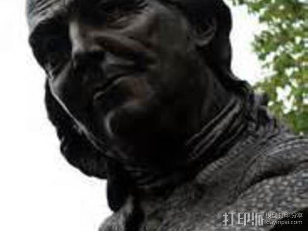 本杰明富兰克林雕塑 3D模型  图3