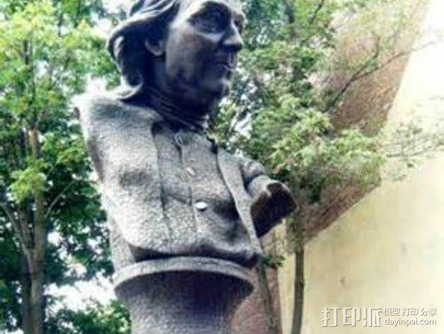 本杰明富兰克林雕塑 3D模型  图4