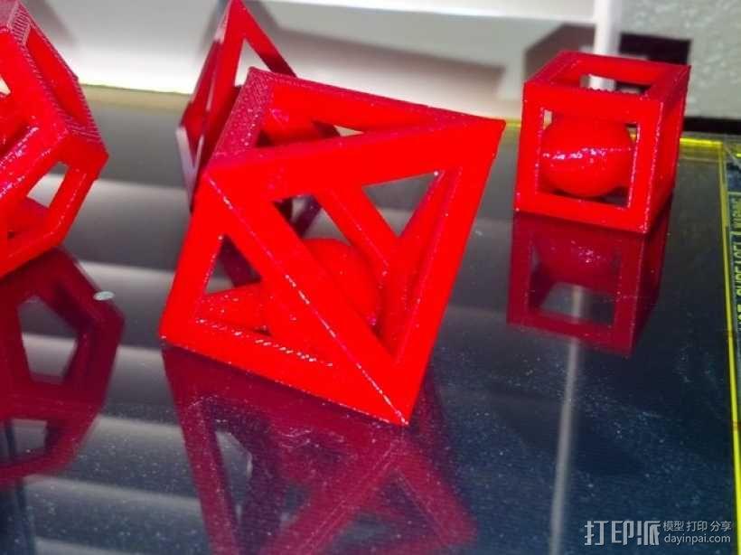 多边形 小球 3D模型  图1