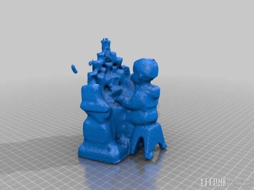 和尚管风琴 3D模型  图2