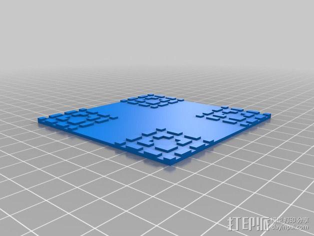 杯垫 3D模型  图3